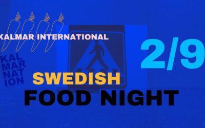 Swedish Food Night – TORSDAG 2 SEPTEMBER